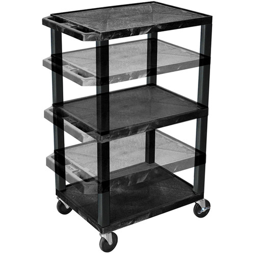 "Luxor Tuffy Black Presentation Station with 16, 26, 34, & 42"" Legs"