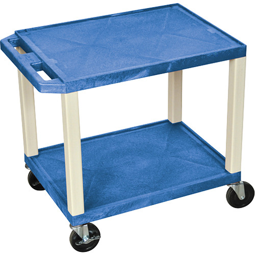 "Luxor WT26BUE Tuffy Open Shelf A/V Cart (24.5 x 24 x 18"") (Blue with Putty Legs)"