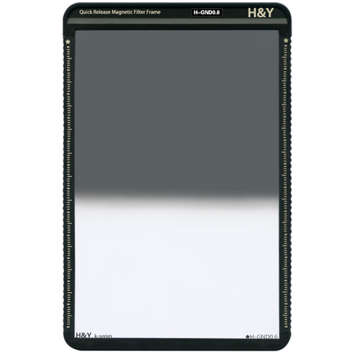 H&Y Filters 100 x 150mm K-Series Hard-Edge Graduated Neutral Density 0.6 Filter (2 Stops) w/Quick Release Magnetic Filter Frame