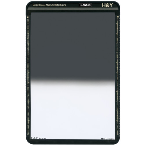 H&Y Filters 100 x 150mm K-Series Hard-Edge Graduated Neutral Density 0.9 Filter (3 Stops) w/Quick Release Magnetic Filter Frame