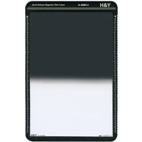 H&Y Filters 100 x 150mm K-Series Hard-Edge Graduated Neutral Density 1.2 Filter (4 Stops) w/Quick Release Magnetic Filter Frame