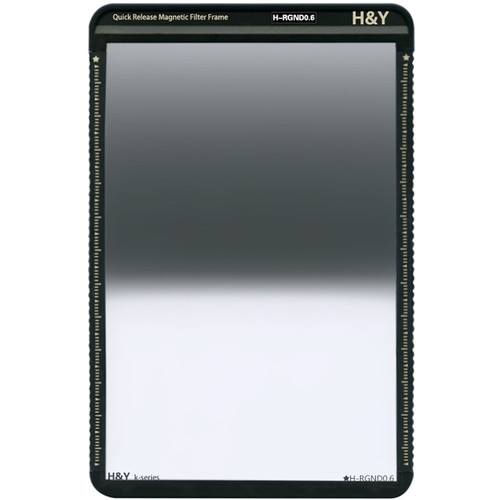 H&Y Filters 100 x 150mm K-Series Reverse-Graduated Neutral Density 0.6 Filter (2 Stops) w/Quick Release Magnetic Filter Frame