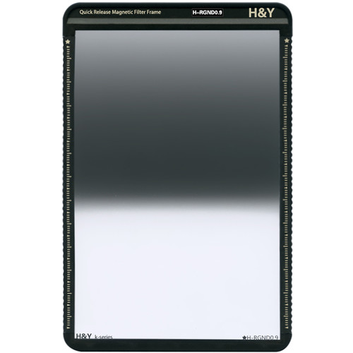 H&Y Filters 100 x 150mm K-Series Reverse-Graduated Neutral Density 0.9 Filter (3 Stops) w/Quick Release Magnetic Filter Frame