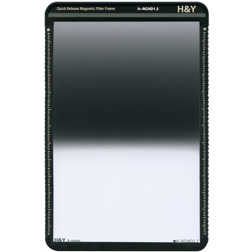 H&Y Filters 100 x 150mm K-Series Reverse-Graduated Neutral Density 1.2 Filter (4 Stops) w/Quick Release Magnetic Filter Frame