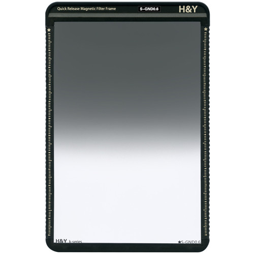 H&Y Filters 100 x 150mm K-Series Soft-Edge Graduated Neutral Density 0.6 Filter (2 Stops) w/Quick Release Magnetic Filter Frame