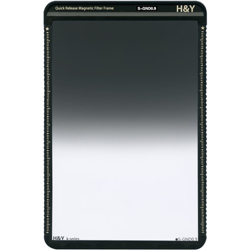 H&Y Filters 100 x 150mm K-Series Soft-Edge Graduated Neutral Density 0.9 Filter (3 Stops) w/Quick Release Magnetic Filter Frame