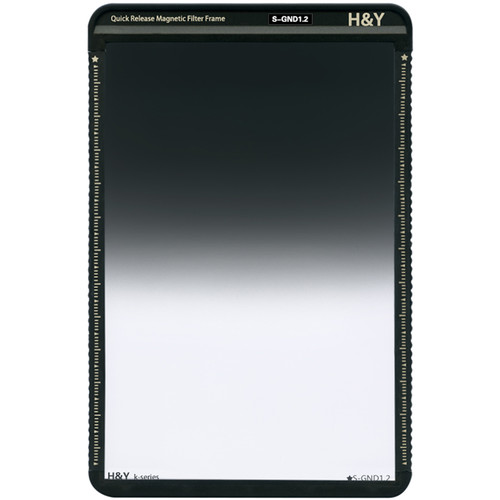 H&Y Filters 100 x 150mm K-Series Soft-Edge Graduated Neutral Density 1.2 Filter (4 Stops) w/Quick Release Magnetic Filter Frame