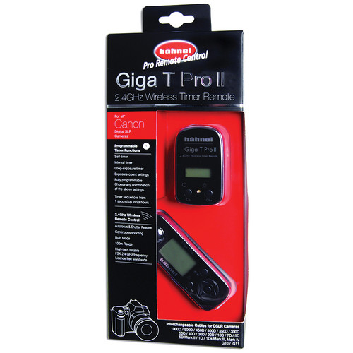 hahnel Giga T Pro II 2.4 GHz Wireless Timer Remote for Canon Cameras