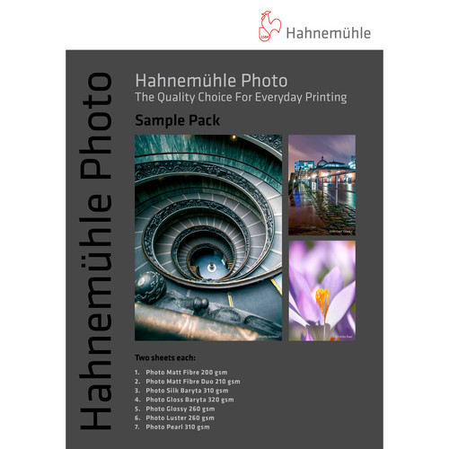 """Hahnemühle Photo Paper Sample Pack (13 x 19"""", 14 Sheets)"""