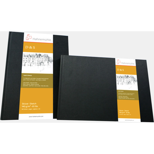 """Hahnemühle Square Stitched D&S Sketch Book (Black Cover, 7.7 x 7.7"""", 80 Sheets)"""