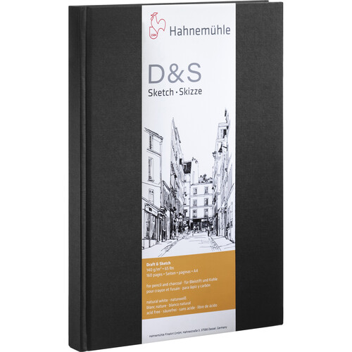 Hahnemühle Portrait Stitched D&S Sketch Book (Black Cover, A5, 80 Sheets)