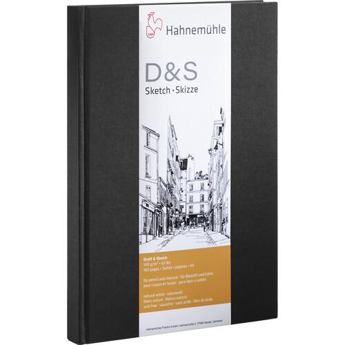 Hahnemühle Portrait Stitched D&S Sketch Book (Black Cover, A4, 80 Sheets)