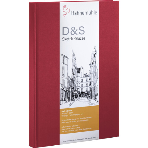 Hahnemühle Portrait Stitched D&S Sketch Book (Red Cover, A4, 80 Sheets)