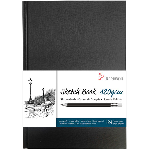 Hahnemühle Sketch Book (Black Cover, A5, 64 Sheets)