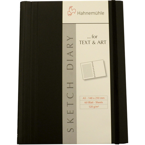 Hahnemühle Spiral-Bound Sketch Diary (60 Sheets, A6, Black)