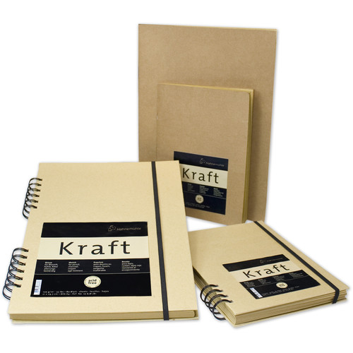 Hahnemühle Kraft Paper Sketch Booklet (Ochre Cover, A4, 20 Sheets)