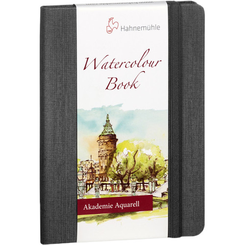 Hahnemühle Watercolor Book (A4 Landscape, Anthracite, 30 Sheets)