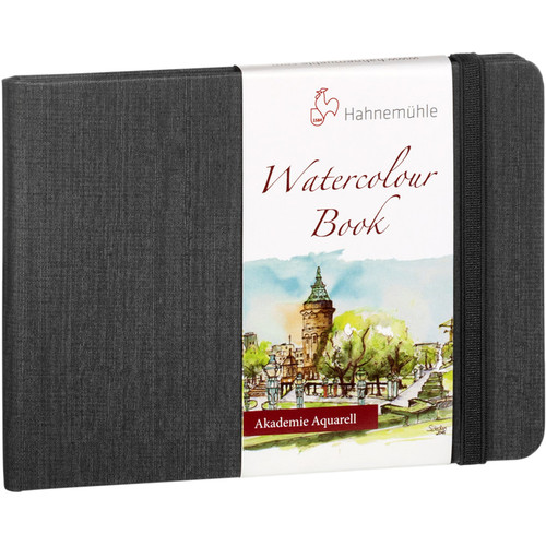 Hahnemühle Watercolor Book (A5 Portrait, Anthracite, 30 Sheets)