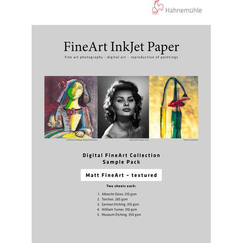 """Hahnemühle Matte Textured FineArt Inkjet Paper Sample Pack (13 x 19"""", 10 Sheets)"""