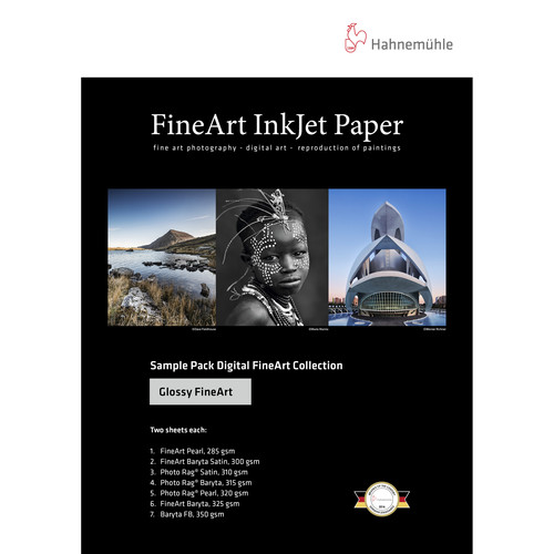 """Hahnemühle Glossy FineArt Inkjet Paper Sample Pack (13 x 19"""", 14 Sheets)"""