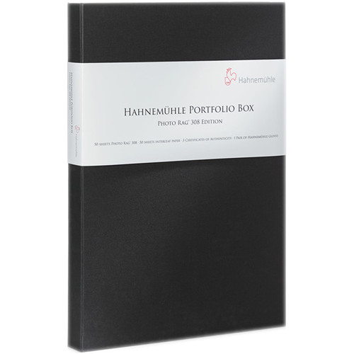 "Hahnemühle FineArt Baryta Satin Paper & Portfolio Box (13 x 19"", 50 Sheets)"