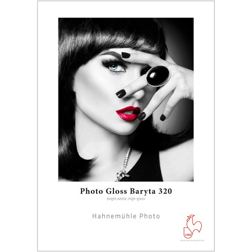 """Hahnemühle Photo Gloss Baryta 320 Paper (13 x 19"""", 25 Sheets, 320 gsm)"""