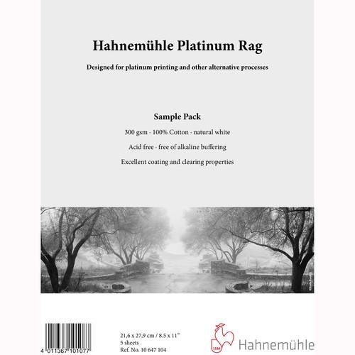 """Hahnemühle Platinum Rag Fine Art Paper (8.5 x 11"""", 5 Sheets)"""