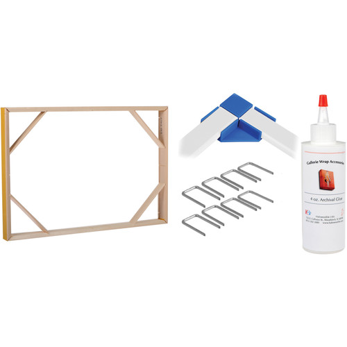"""Hahnemühle Gallerie Wrap Set with Standard Positioning Corners (12 x 18"""", B&H Kit)"""