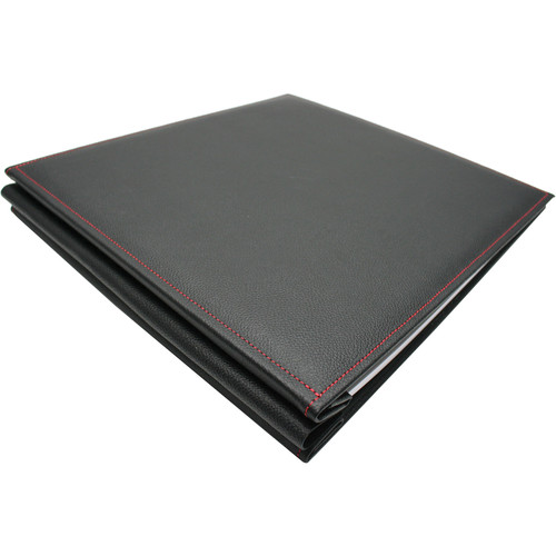 Hahnemühle FineArt InkJet Stitched Leather Album Cover (Black with Red Stitching)