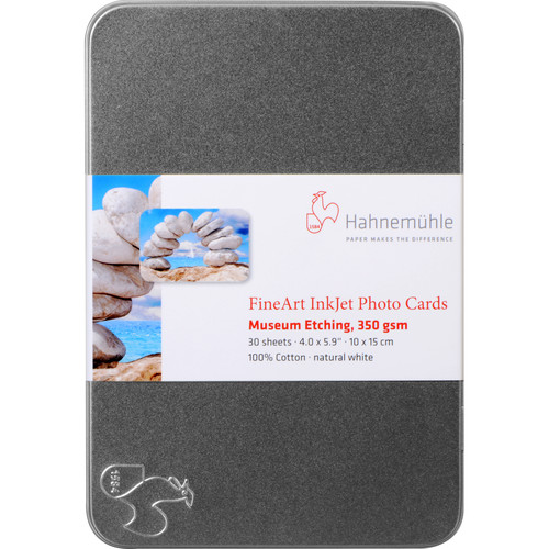 """Hahnemühle Museum Etching Paper with Tin Box (4 x 6"""", 30 Sheets)"""