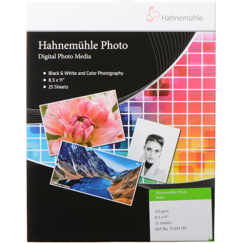"""Hahnemühle Photo Pearl 310 Paper (8.5 x 11"""", 25 Sheets)"""