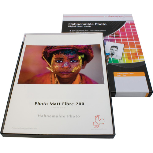 "Hahnemühle Matt Fibre 200 Inkjet Photo Paper (8.5 x 11"", 25 Sheets)"