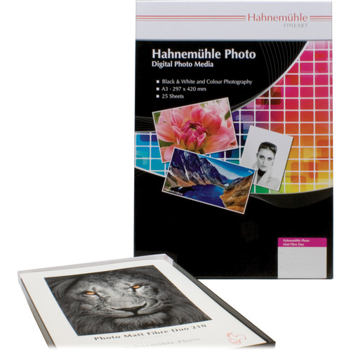 "Hahnemühle Matt Fibre Duo 210 Inkjet Photo Paper (13 x 19"", 25 Sheets)"