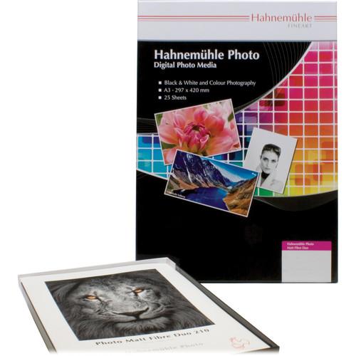 "Hahnemühle Matt Fibre Duo 210 Inkjet Photo Paper (17 x 22"", 25 Sheets)"