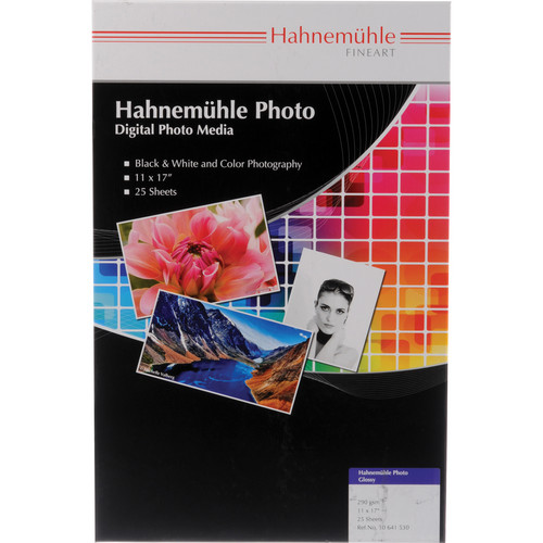 "Hahnemuehle Photo Glossy 290 Inkjet Paper (11 x 17"", 25 Sheets)"