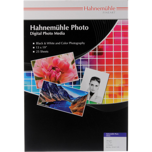 "Hahnem�hle Photo Glossy 290 Inkjet Paper (13 x 19"", 25 Sheets)"