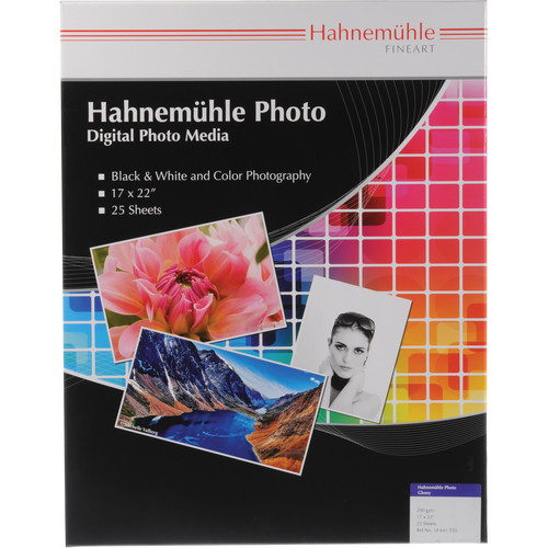 "Hahnem�hle Photo Glossy 290 Inkjet Paper (17 x 22"", 25 Sheets)"