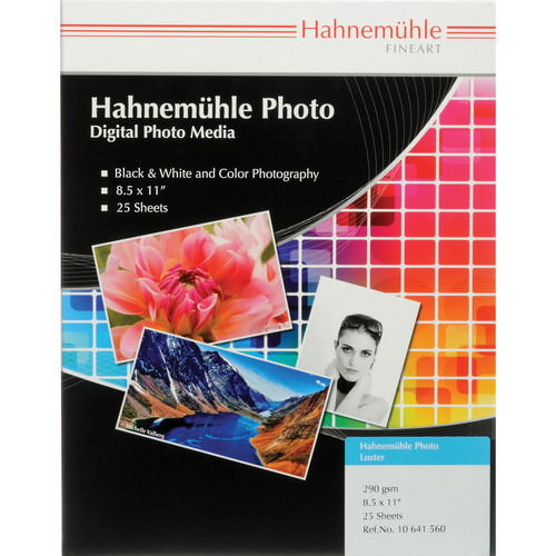 """Hahnemühle Photo Luster 290 Inkjet Paper (8.5 x 11"""", 25 Sheets)"""