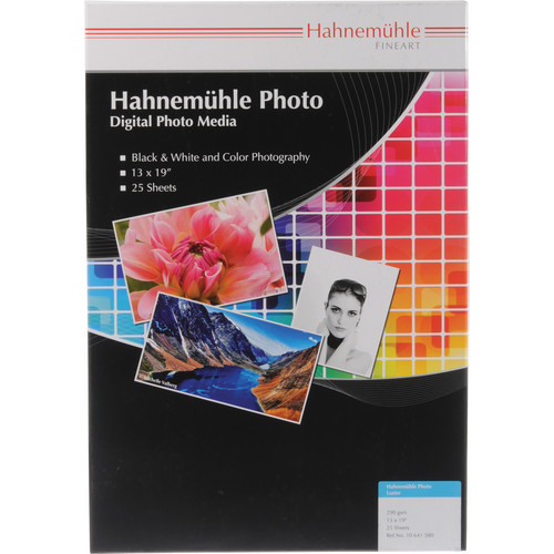 """Hahnemühle Photo Luster 290 Inkjet Paper (13 x 19"""", 25 Sheets)"""