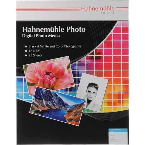 """Hahnemühle Photo Luster 290 Inkjet Paper (17 x 22"""", 25 Sheets)"""