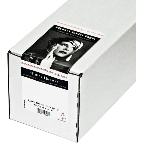"""Hahnemühle FineArt Baryta Satin Paper Roll (3"""" Core, 36"""" x 39.37', 300 gsm)"""