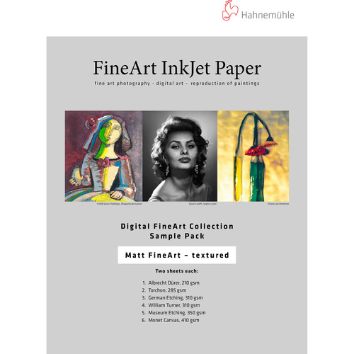 "Hahnemühle Matte Textured FineArt Inkjet Paper Sample Pack (8.5 x 11"", 10 Sheets)"