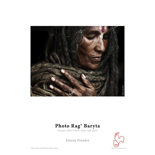 """Hahnemühle Photo Rag Baryta Glossy FineArt Paper (24"""" x 10' Roll, 325 gsm)"""
