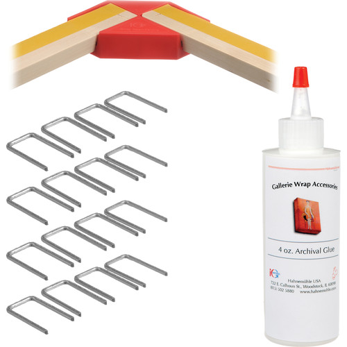 """Hahnemühle PRO Gallerie Wrap System with Positioning Corners (12"""" Bars, 8-Pack)"""