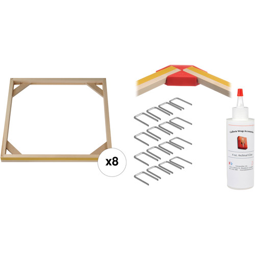 """Hahnemühle PRO Gallerie Wrap System with Positioning Corners (20"""" Bars, 8-Pack)"""