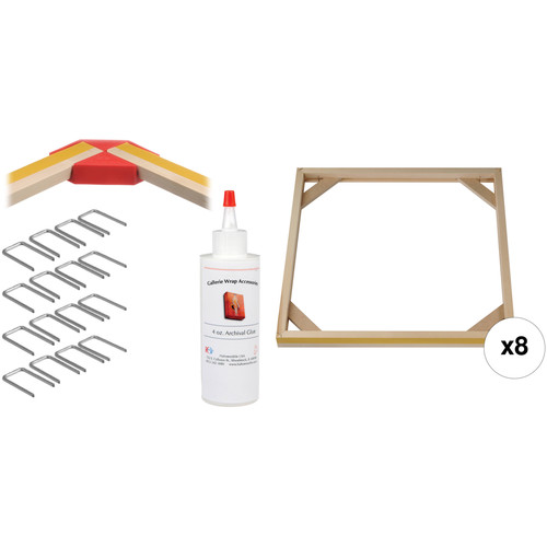 """Hahnemühle PRO Gallerie Wrap System with Positioning Corners (19"""" Bars, 8-Pack)"""