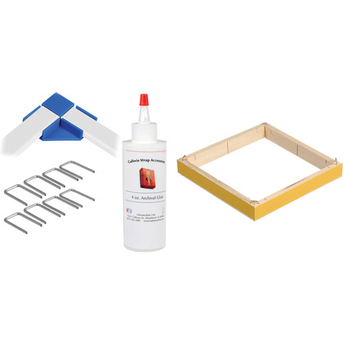 """Hahnemühle Standard Gallerie Wrap System with Positioning Corners (8"""" Bars, 8-Pack)"""
