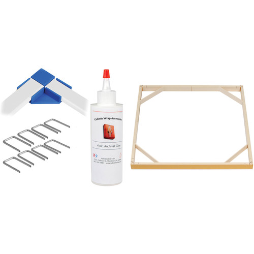 """Hahnemühle Standard Gallerie Wrap System with Positioning Corners (16"""" Bars, 8-Pack)"""