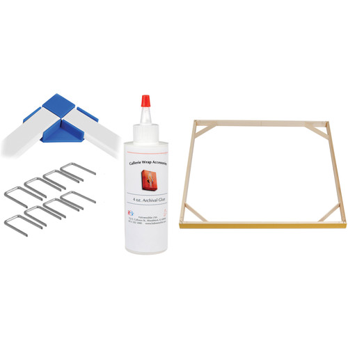 """Hahnemühle Standard Gallerie Wrap System with Positioning Corners (24"""" Bars, 8-Pack)"""