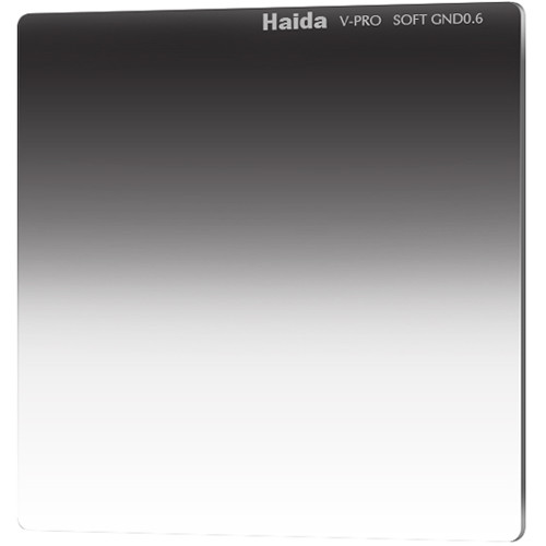 "Haida 6.6 x 6.6"" V-Pro Series Multi-Coated Soft Graduated 0.6 Neutral Density Filter"